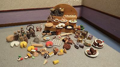 88x dolls house assortment job lot of kitchen  items  shop/house 1.12th