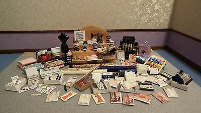 100x dolls house assortment job lot of haberdashery items  shop/house 1.12th