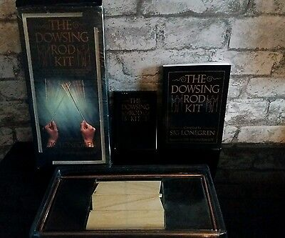 The Original Dowsing Rod Kit By Sig Lonegren boxed paperback book inside UNUSED