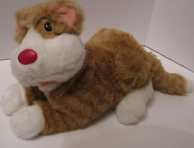"Big Comfy Couch Plush Snicklefritz The Cat 12"" Large Stuffed Animal Toy 1995 Vtg"