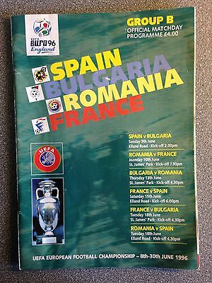 Euro 96 Group B official programme. June 1996