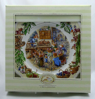 "Royal Doulton Brambly Hedge 2003 8"" Wall Plate Mint Condition in Box"