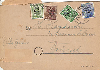 A 1258 Germany Soviet Zone February 1949 cover to Belgium