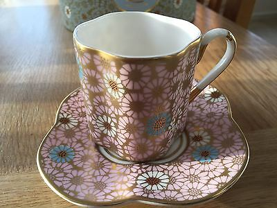 Wedgewood Harlequin Daisy Tea Cup & Saucer. BRAND NEW in lovely presentation Box
