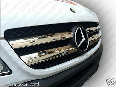 MERCEDES Sprinter W906 Front Grill Covers S.Steel 2006-2013