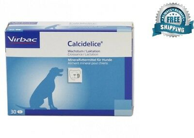 Vibrac Calci Delice ( Calcidelice)  Dog food Supplement  30 Tasty Caps EXP. 2018
