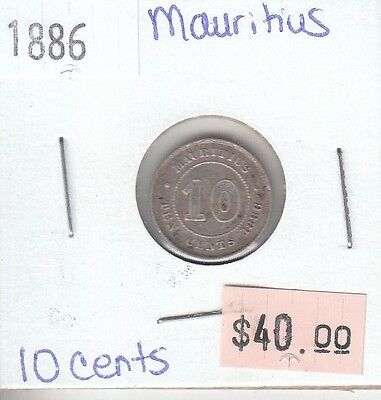 Mauritius 10 Cent 1886 Circulated