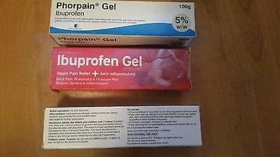 3 x 100g Ibuprofen gel, brand new in boxes, pain relief