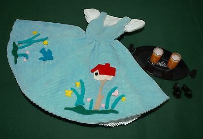 VINTAGE BARBIE DOLL FRIDAY NIGHT DATE SHOES TRAY DRINKS - 1960's ORIGINAL