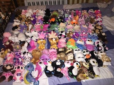 Huge Lot 90 Ty Beanie Boos - Includes Exclusives