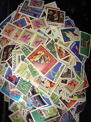 Canada Stamp Collection Used, From Estate. 25 Gram Off Paper Stamps, Free S/H