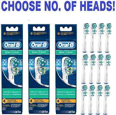 Braun ORAL-B Genuine DUAL CLEAN electric toothbrush replacement Brush Heads