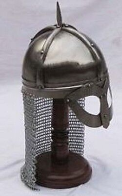 New Medieval Armour Viking Mask Armour Helmet With Chainmail Reenactment Replica
