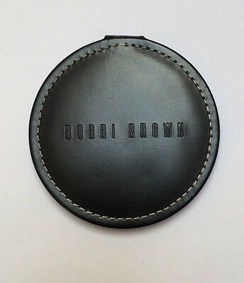 BOBBI BROWN PU Leather Make Up Mirror Cosmetic round Mirrors Travel Portable
