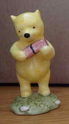 Winnie the Pooh Ornament - Winnie the Pooh and the Present by Royal Doulton