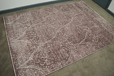 New Modern Hand Carved Violet Grey Rugs Medium Large 160 X 230 Cm
