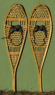"Antique Indian SNOWSHOES ""12 X 42""  HAND MADE Perfect!"