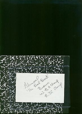 Glewood Brown IBO Middleweight Boxing Champ Autographed 3 x 5 Index Card