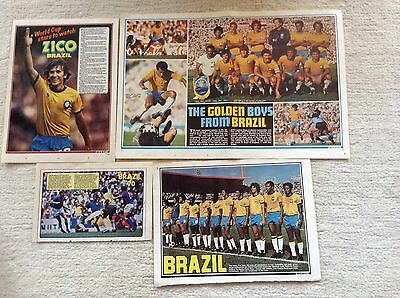SHOOT Football Magazine Brazil Team & Player Posters 1970's & 1980's