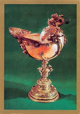 Netherlands Rotterdam Nautilus Cup Silver Mother of Pearl Shell Precious Stones