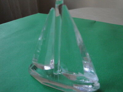 Crystal Collection Sailboat Figurine