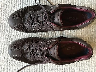 Ecco Gore Tex Brown Lace-Up Shoes / Trainers - Ladies / Women's Size 7 (40)