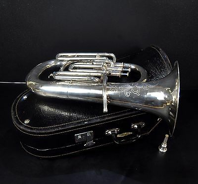 Vintage Euphonium - Extremely Rare Horn From China In Original Case+Mouthpiece