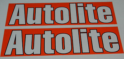 autolite racing decals stickers drags nostalgia outlaw offroad bracket oval dirt