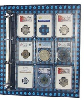 2 ENCAP Clear Plastic Certified Coin Slab Binder Album Pages for NGC PCGS other