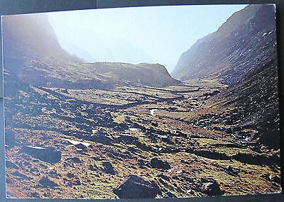 Natural colour photographic postcard, Llanberis Pass, Caernarvonshire