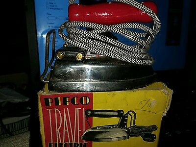 Vintage Pifco Stainless Steel Travel Iron