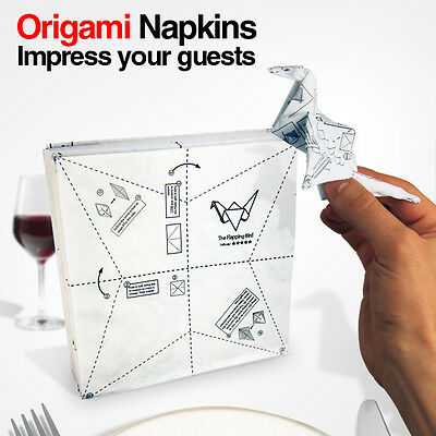 Spinning Hat - Origami Napkins with Instructions Funny Gift Novely Design Paper