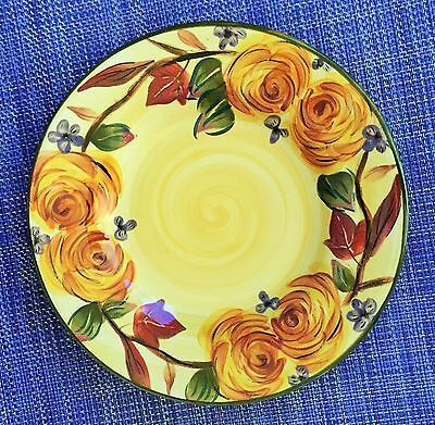 "Tabletops Unlimited Tuscan Splendor Hand Painted 8 1/2"" Salad or Dessert Plate"