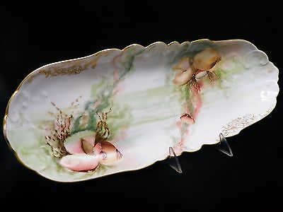 "Antique Jean Pouyat Limoges JPL 19"" Fish Serving Platter ~ Seashells/Ocean Life"