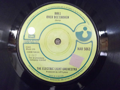 "THE ELECTRIC LIGHT ORCHESTRA Roll Over Beethoven 7"" SINGLE 1972 JEFF LYNNE"