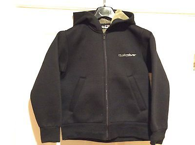 Boys Black Velour Lined Hooded Micro Fleece - Quiksilver - Aged 10 Yrs