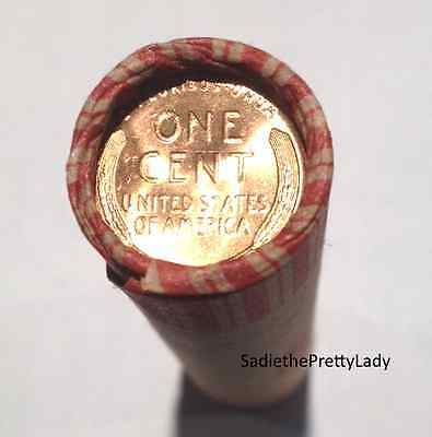 SHOTGUN ROLL WHEAT PENNIES WITH UNCIRCULATED CENT ON END 1909-1958 - UnSearched