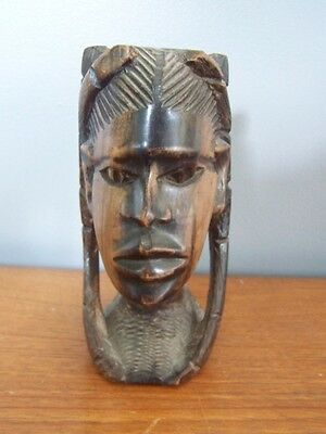 African Art, Wooden Carved Stature head