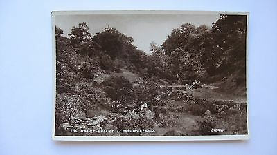 Old Vintage Postcard The Happy Valley, Llanfairfechan Valentines real photograph