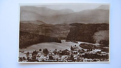 Old Vintage Postcard Strathpeffer from Cats Back J B White real photograph