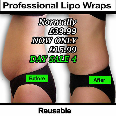 4 DAY OFFER  8 application's body clay  wrap kit it works for slimming inch loss