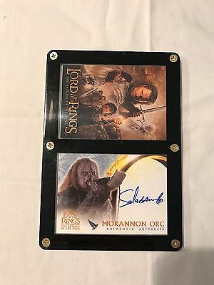 Topps The Lord of the Rings: Return of the King Sala Baker as Morannon Orc Auto