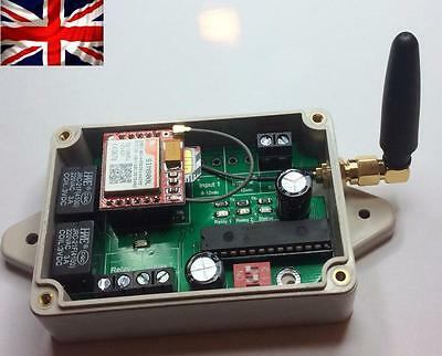 GSM Switch 2 x Relay Controller, Case Included, IP Rated, Use any phone..