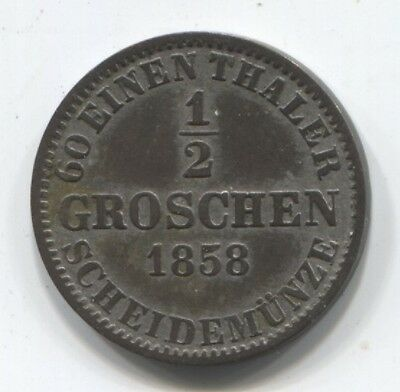 Germany 1/2 groschen 1858 Hannover