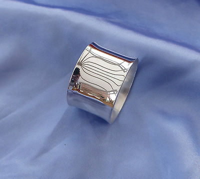 Vintage 1970's silver plated christening napkin Serviette ring