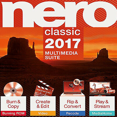 Nero 2017 Classic for Windows - New Sealed Retail Box – Free Shipping
