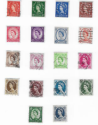 (ST023.2) GB QEII - 1852-67 - Selection of Unchecked Wilding Definitives - Used