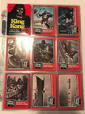 1976 Topps King Kong Trading Card Set w/ Stickers