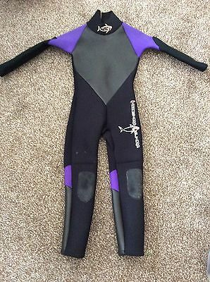 Thousand Island Wetsuit Full Length Junior Chest 22 Inch Size 4