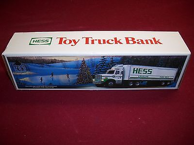 1987 Hess Toy Truck Bank mint in the original box. made in CHINA